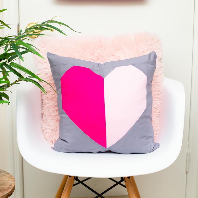 Heart Block Pillow Pattern