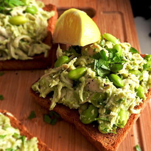 Zesty Chicken Avocado Toast