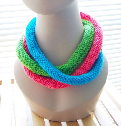 Knit Cowl Necklace