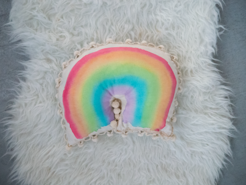 Watercolor Rainbow Pillow
