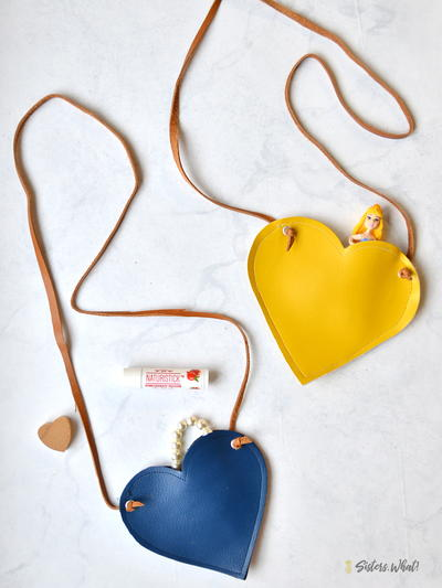Faux Leather Heart Bag