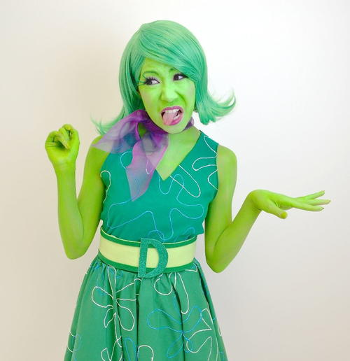 Inside Out Disgust-Inspired Cosplay