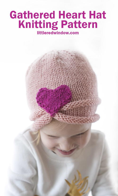 Gathered Heart Hat