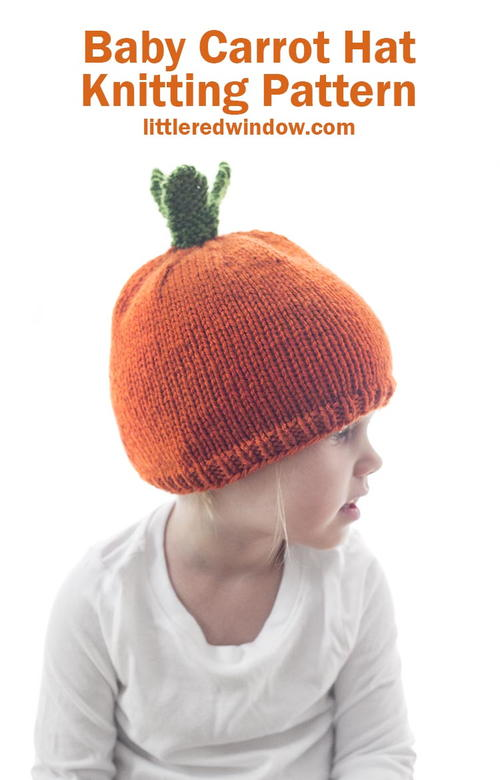 Baby Carrot Hat Knitting Pattern
