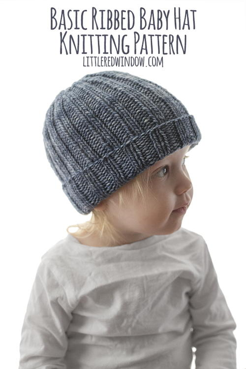 Easy Ribbed Baby Hat Knitting Pattern