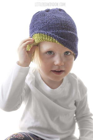 Easy Double Brim Hat Knitting Pattern
