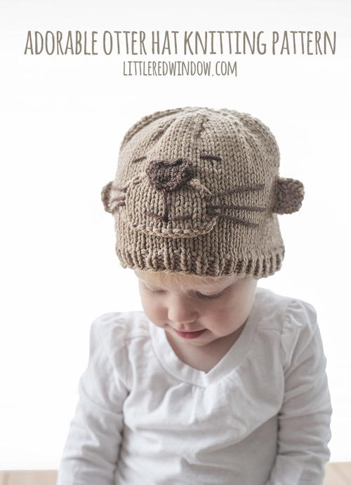 Adorable Otter Hat Knitting Pattern