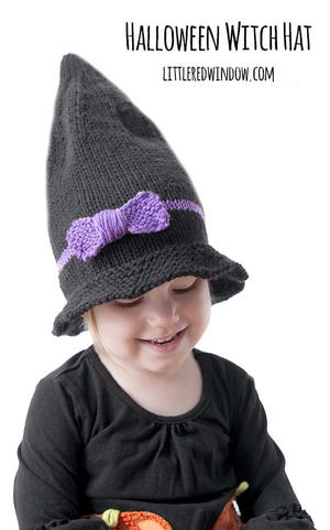 Little Witch Hat Knitting Pattenr