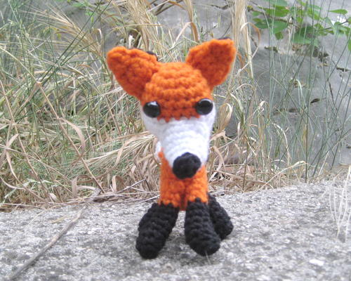 011 Crochet Pattern Fox Decor or Bookmark Amigurumi PDF | Etsy | 400x500