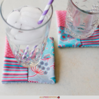 10-Minute Folded Fabric Coasters