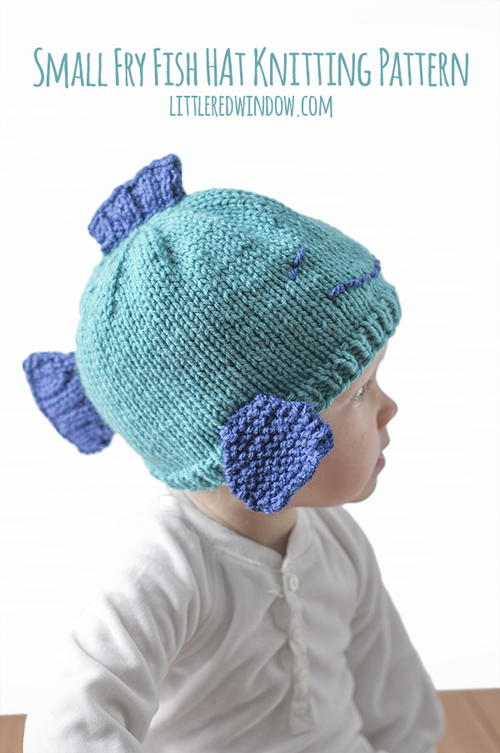 Small Fry Fish Hat Knitting Pattern