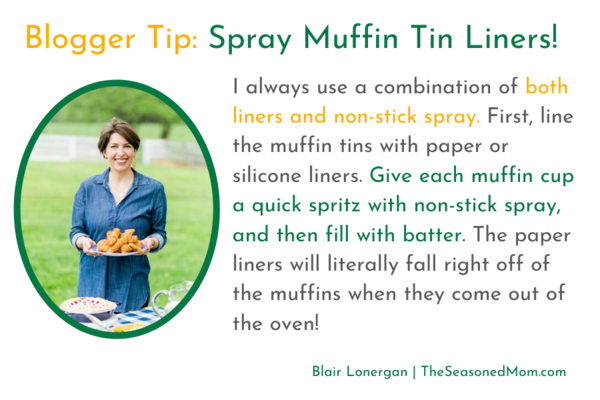 Blair Lonergan Tip for Keeping Muffins from Sticking to the Pan