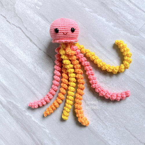 Juniper The Jellyfish Amigurumi Sea Animal Toy