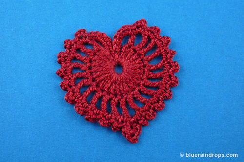 Delicate Crocheted Heart