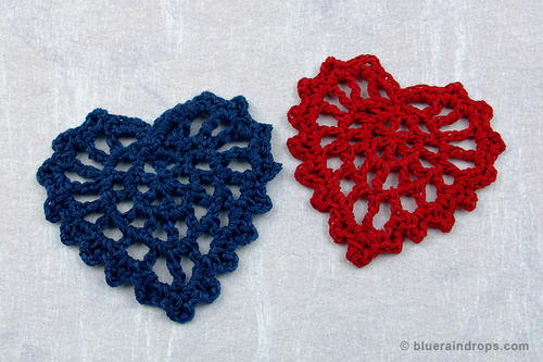 Crochet Lacy Heart Motif