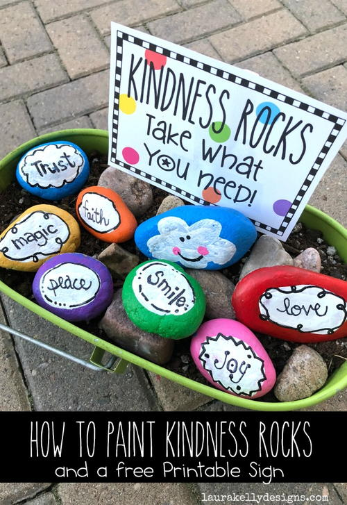Kindess Rocks With A Free Printable
