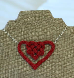 Easy Celtic Knot Heart Necklace
