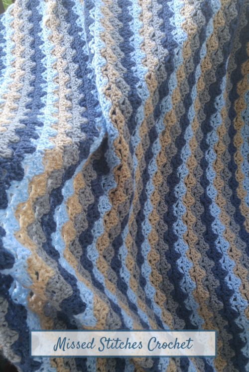 January Blues Crochet Lap Blanket