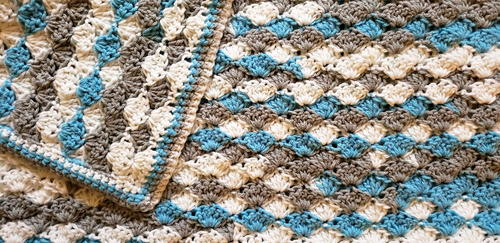 Solid Shell Stitch Baby Blanket