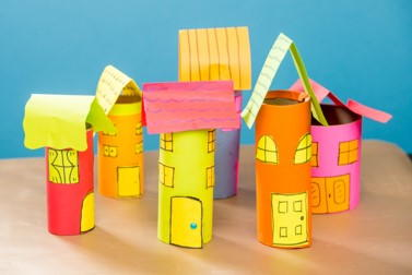 Paper Village from Paper Rolls