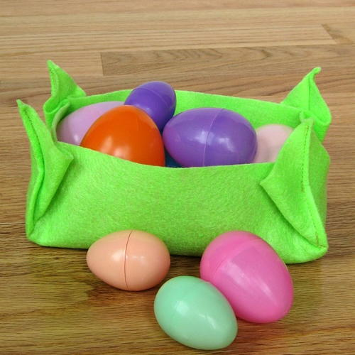 Last Minute Felt Easter Basket