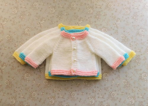 Tiny Topaz Premature Baby Cardigan