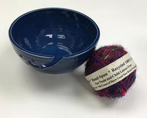 Sari Silk Handspun Yarn and Yarn Bowl Set Giveaway