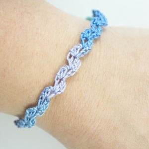 Ocean Waves Crochet Bracelet