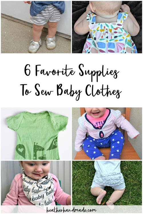6 Best Supplies To Sew Baby Clothes