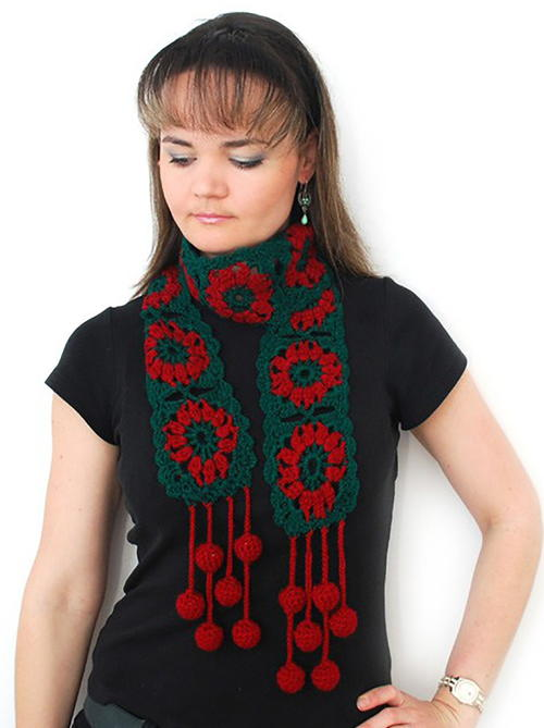 Jingle Bells Holiday Scarf