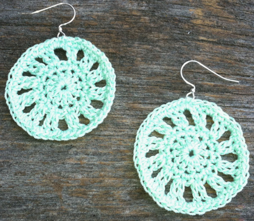Circle Motif Earrings