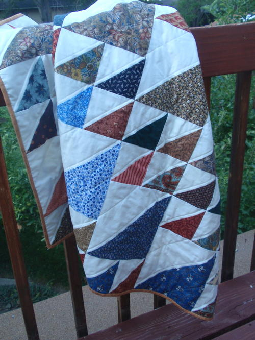 Brotherly Love Half Square Triangle Quilt