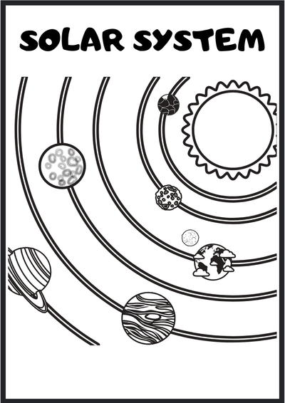 Free Outer Space Coloring Pages And Activity Sheet