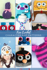 50+ Free Crochet Character Hat Patterns