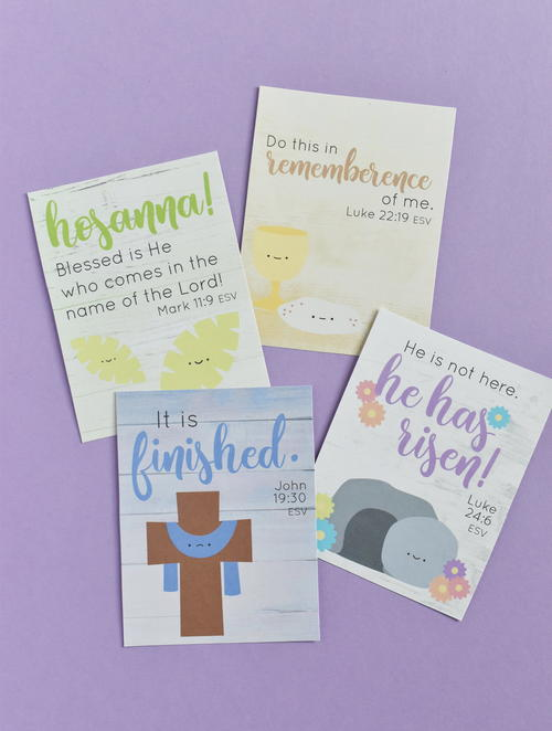 Printable Holy Week Verse Cards