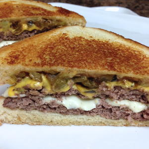 Whataburger Copycat Green Chile Double Cheeseburger