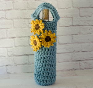 Sunflower Wine Cozy
