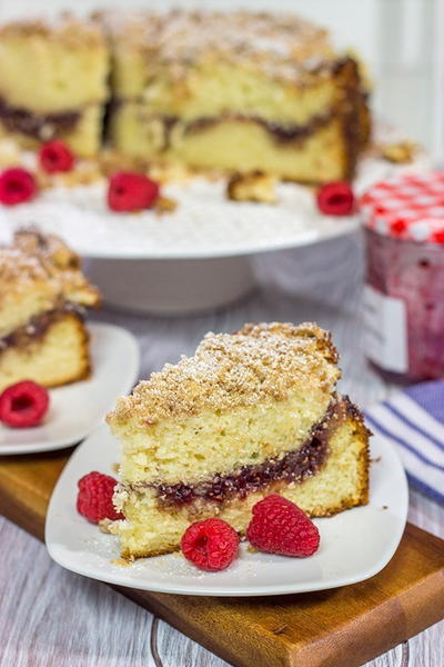 Raspberry Jam Filled Coffee Cake
