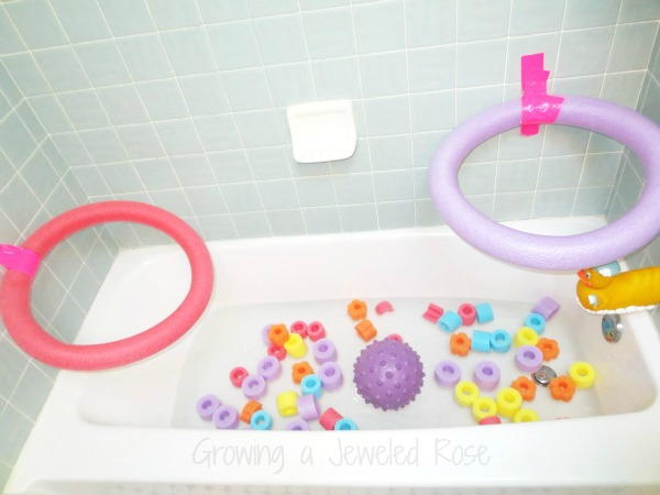 Bathtime Pool Noodle Games for Toddlers
