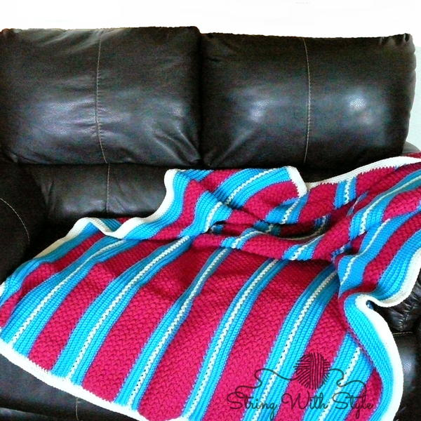 Striped Cotton Candy Afghan