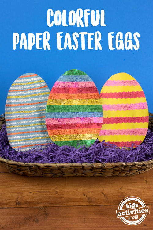 Colorful Paper Easter Eggs