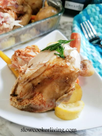 Slow Cooker Roasted Chicken Recipe