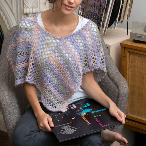 Short Lacy Spring Poncho Pattern