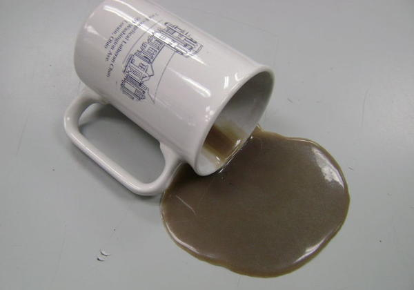 DIY Spilled Coffee Prank for April Fools' Day