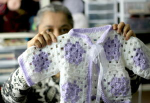 Crochet Granny Square Baby Sweater