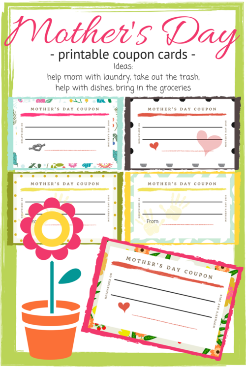 Free Mother's Day Printable Coupon Cards