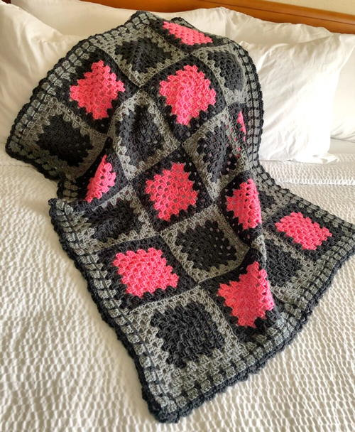 Simple Loop Granny Square Crochet Border