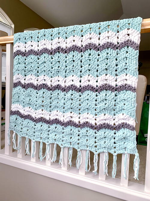 Easy Weekend Chevron Crochet Blanket