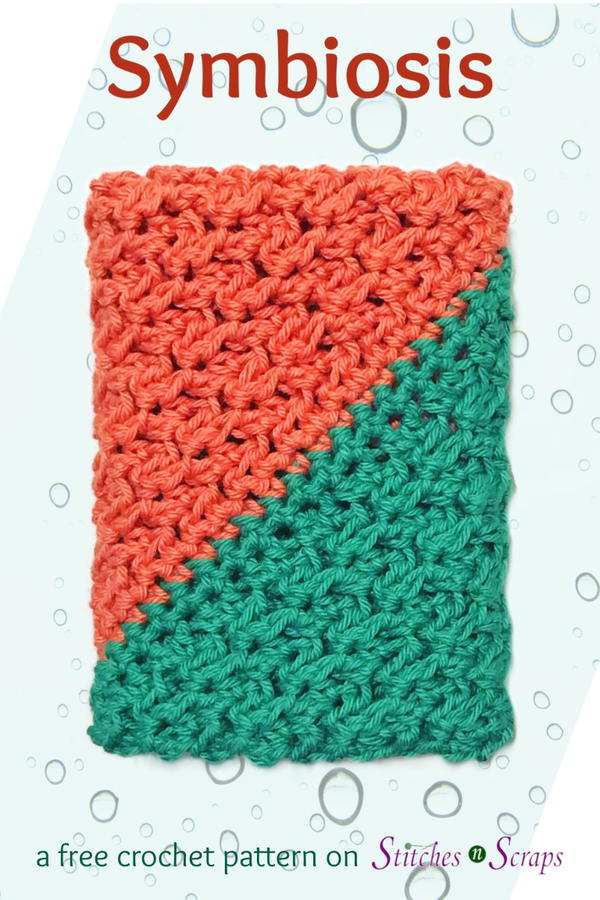 Symbiosis Corner to Corner Crochet Dishcloth Pattern