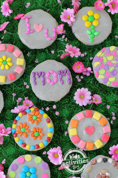 Garden Stone Cookies For Mothers Day